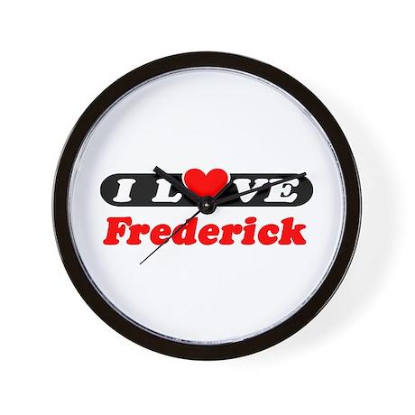 I Love Frederick Wall Clock