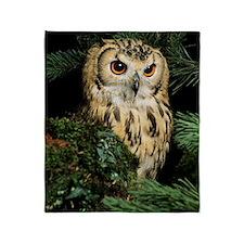 Bangalese eagle owl Throw Blanket
