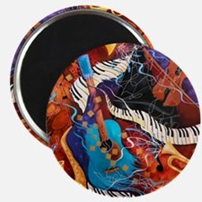 Jazz Supper Club Guitar Curvy Piano Magnet