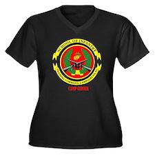 Camp Geiger  Women's Plus Size Dark V-Neck T-Shirt