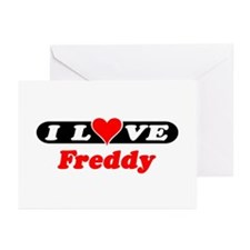 I Love Freddy Greeting Cards (Pk of 10)