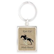 Eyes Up! Heels Down! Horse Portrait Keychain