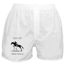 Eyes Up! Heels Down! Horse Boxer Shorts