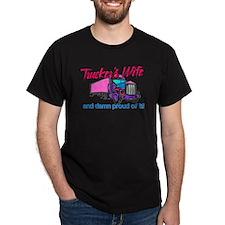 Trucker's Wife Damn Proud T-Shirt