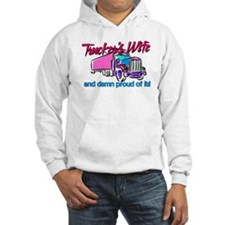 Trucker's Wife Damn Proud Jumper Hoody