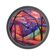 Moon Dance Night Sunset Tree Park Wall Clock