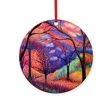 Moon Dance Night Sunset Tree Park Round Ornament