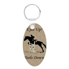 Eyes Up! Heels Down! Horse Keychains