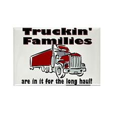 Truckin' Families Rectangle Magnet