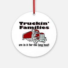 Truckin' Families Ornament (Round)
