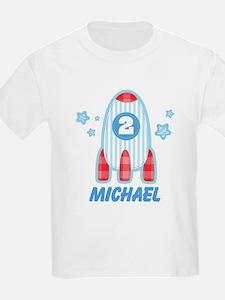 Personalized 2nd Birthday Rocket T-Shirt