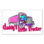 Daddy's Little Trucker Sticker (Rectangle)