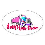 Daddy's Little Trucker Sticker (Oval)