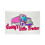 Daddy's Little Trucker Rectangle Magnet