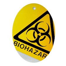 Biohazard symbol Oval Ornament