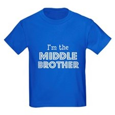 I'm the middle Brother Kids blue T-Shirt