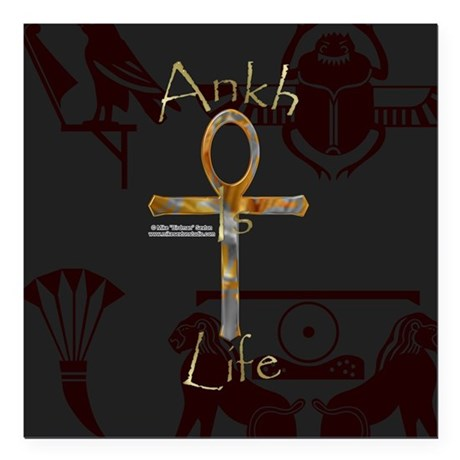 "Ankh is Life Square Car Magnet 3"" x 3"""