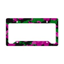 Pink Camouflage print License Plate Holder