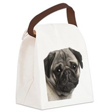 Pug Shirt Canvas Lunch Bag
