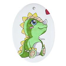 Dragon Love Oval Ornament