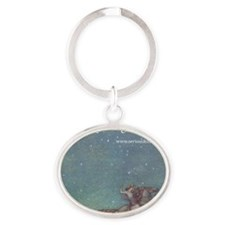 Whispering Road T-shirt Oval Keychain
