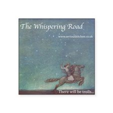 "Whispering Road T-shirt Square Sticker 3"" x 3"""