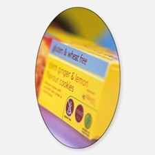 Biscuit packaging Sticker (Oval)