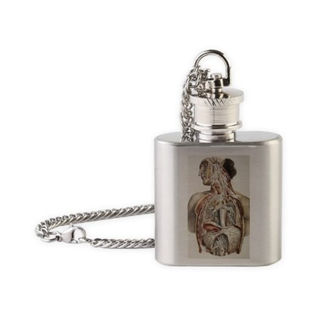 Autonomic nerves, 1844 artwork Flask Necklace