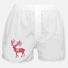 Christmas deer with snowflakes patter Boxer Shorts