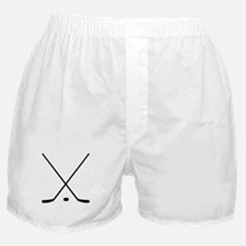 Hockey Sticks And Puck Boxer Shorts