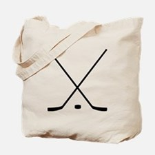 Hockey Sticks And Puck Tote Bag