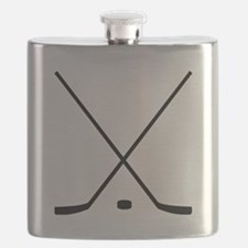 Hockey Sticks And Puck Flask