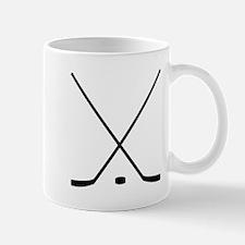 Hockey Sticks And Puck Mugs