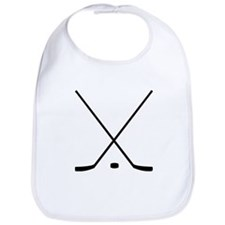 Hockey Sticks And Puck Bib