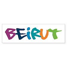 Beirut Graffiti Bumper Bumper Sticker