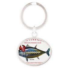 private tuna Oval Keychain