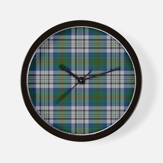 Kennedy Dress Tartan Plaid Wall Clock