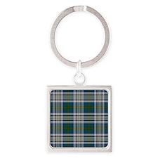 Kennedy Dress Tartan Plaid Square Keychain
