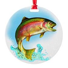 Trout fish - no backgrnd Ornament