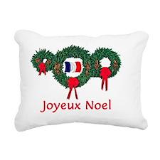 France Christmas 2 Rectangular Canvas Pillow