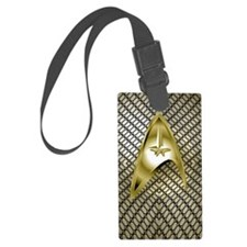 Gold Mesh Star Trek Luggage Tag