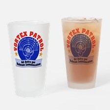 Vortex Patrol logo Drinking Glass