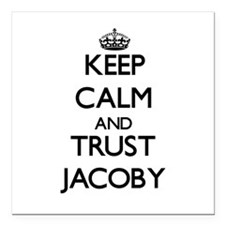 """Keep Calm and TRUST Jacoby Square Car Magnet 3"""" x"""