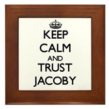 Keep Calm and TRUST Jacoby Framed Tile
