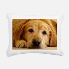 Golden Retriever Rectangular Canvas Pillow