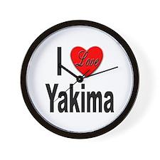 I Love Yakima Wall Clock