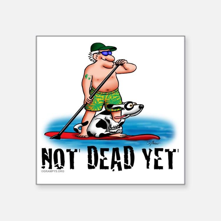 """Paddle Board Grampy Square Sticker 3"""" x 3"""""""