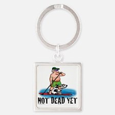 Paddle Board Grampy Square Keychain