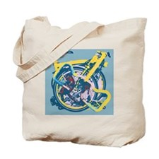 Brompton Folded Blue Tote Bag