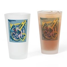 Brompton Folded Blue Drinking Glass